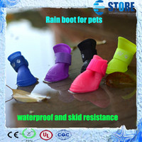 Wholesale Newest Waterproof and Skid Resistance Rain Boot for Pets Dog Soft PVC Pet boots Jelly Color wu