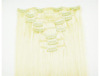 Wholesale quot thick g remy clip in human hair extensions lighest blonde