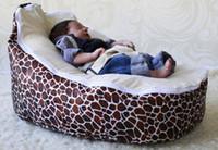Wholesale doomoo baby beanbag chair cover stone beige doomoo baby seat