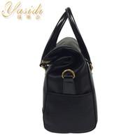 leather purse handles - New Women s Luxury square SHOULDER Bags Tote Cross Bag Handbag Purse PU Leather Women Messenger Hobo Bag Double Handles