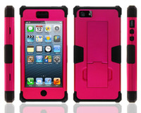For Apple iPhone Plastic White Hot sale Cell Phone Case Holster For Iphone 5G 5S For Samsung Super Robot Combo Upper and lower lid plus silicone With support clip