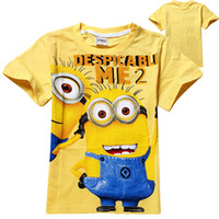Cheap Baby T-shirts Minions 100% cotton Boys Tee tops children short sleeve T-shirt with cute Pegman baby soft summer clothing wholesale