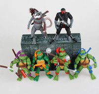 Wholesale New Fashion Hot style Teenage Mutant Ninja Turtles Splinter Leonardo Michelangelo Donatello Raphael Classic Toys set