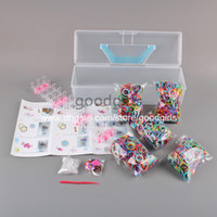 Cheap Colorful Spotty Rubber Bands DIY Loom Band with Includes Weaveboard & Hook Child DIY Bracelets Rings ew in Retail Box OTFG144