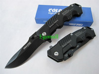 black paper - Black Cold Steel Folding Knife With Retail Paper Box Hunting Knives