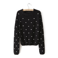 Cheap za European style fall and winter clothes embroidered butterfly short paragraph Slim bottoming knit sweater women 0367 808