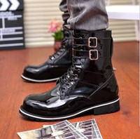 Wholesale 2014 New Arrival Men Motorcycle Boots Winter Shoes for Men High Quality Boots XMX008