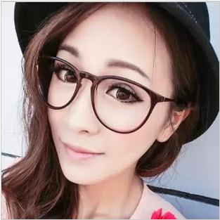 the new influx of female models retro glasses frame repair men round face star models can be equipped with glasses plain mirror sunglasses uk polarised