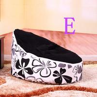 Wholesale doomoo baby beanbag chair black top flower doomoo baby seat