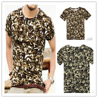 Cheap Men's Slim Fit Camouflage Style Short Sleeve T-shirt 6505
