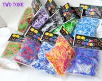 Wholesale TIE DYE colorful loom bands Wrist kit bracelet new DIY Rainbow loom Halloween Children gift toys Rubber band melange amp heat
