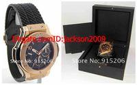 big paper box - Luxury Watch Big Black PVD Mens Big PX k Rose Gold Box Papers Black black rubber Chronograph Sport Styles wristwatches