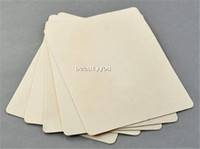 Wholesale New x cm Blank Tattoo Practice Fake Skin Sheet Double Side Supply