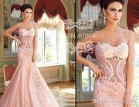 Wholesale Elegant Prom Dresses Jewel Appliques Beading Prom Dresses Mermaid Scoop Neckline Crystals Formal Evening Gowns Wedding Dresses BO5721