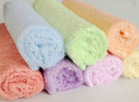 bath wipes - 100 Bamboo Fibre FACE WASHER TOWEL baby wash cloth bath towel flannel wipe mixed colour x25CM