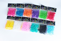 Wholesale loom bands kit Rainbow loom colorful Silicone wrist DIY Children gift bracelet rubber band S buckle crochet DHL free