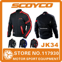 Wholesale 2014 Scoyco JK34 Motorcycle Clothing Protective Racing Jacket Sports Motorbike Safety Waterproof Warm Winter Wear