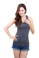 Womens Hollow Out Cotton Sleeveless Tank Top