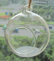 Wholesale Wedding Hanging Bubble Tea Candle Holder Home Decoration Lanterns Globe Terrariums