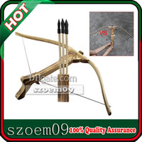 Wholesale Big Size Hunting Bow Crossbow W Arrow Quiver Wood Kid Children Youth Cross Bow Toy Gun Set Wooden Archery Crossbow