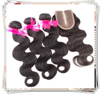 Malaysian Hair Body Wave AAAAAA Cheap Nice Rosa Hair!Buy 3 Hair Bundles Get Middle Closure 6A Best Brazilian Malaysian Peruvian Indian Rosa Queen Hair Body Wave Extension