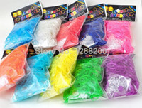 Cheap New Rainbow Loom bands Glow in the Dark Rubber Bands DIY Wrist Bands rubber band Bracelet for kids 12 colors (600pcs+24pcs C S clips)