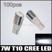 Wholesale 100pcs T10 W Q5 projector lens for Cree LED Reverse Backup LightSide Turn Signal Wedge Light Bulb Lamp