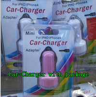Cheap With Retail Package box bag Dual USB 2 Port mini Car Charger 2.1A Auto Power Adapter For iPhone 6 plus 5 5s 4 4s Samsung Nokia LG Sony ZTE