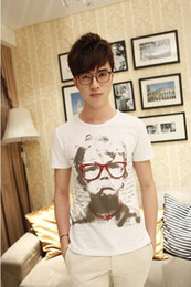 Wholesale shirt Details about New Summer Men s White Casual Cotton O neck Short Sleeves T Shirts M XXL