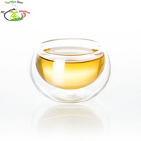 Wholesale 12PC fl oz ml Small Handmade Heat Resisting Double Clear Pyrex Glass Water Wine Coffee China Kungfu Tea Cups Drink Mugs
