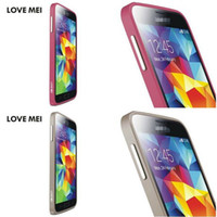 Wholesale New arrive LOVE MEI lunatik taktik powerful for galaxy S5 metal frame bumper case cover for I9600 galaxy S5 retail package