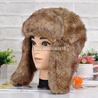 Wholesale The Newest Unisex Mens Ladies Winter Warm Thermal Ski Faux Fur Russian Trapper Ushanka Hat fx258
