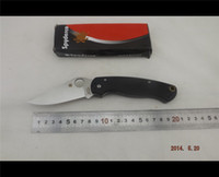 Wholesale Camping Knife Spyderco Paramilitary Knife S30V G Scales