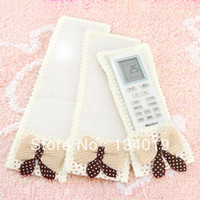 Wholesale Starry Butterfly knot fabric remote control units air conditioning remote control TV Dust Cover