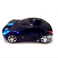 Wholesale Drop Retail wireless mouse fashion super sport car shaped mice optical mouse for pc laptop computer build in battery