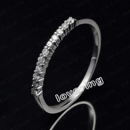 Free shipping high quality Sz 5-10 Claw Set White sapphire Lady's 10KT Gold Filled Engagement Ring Hot Gift
