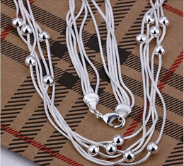 X9222 Wholesale 925 silver pearl choker necklace, 925 Sterling silver fashion jewelry,free shipping