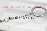 Wholesale detachable stainless steel mm memory magnetic living glass locket key rings keychain floating charm and locket not included