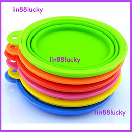 Wholesale Environmentally Friendly Folded Silicone Pet Dog Feed Bowl Portable Outdoor Travel Cat Food Water Feeder Supplies