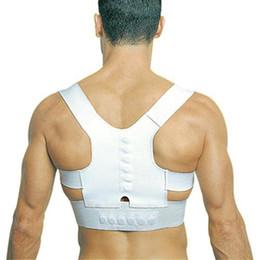 Wholesale S5Q Adjustable Unisex Magnetic Posture Back Shoulder Corrector Support Brace Belt AAABSI