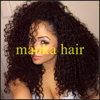 Wholesale Best Selling Price kinky curly Soft amp Durable Brazilian Indian virgin hair full lace wig amp lace front wigs with glueless