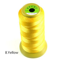 beaded woven wire - High Quality Beaded Woven Bracelets Necklaces Nylon Cord Yellow Color Jewelry Sewing Thread