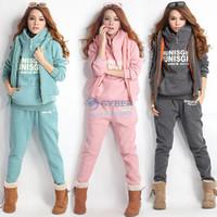 Cheap Hot Sale Autumn Winter Women Thickening Sports Suits Casual Girl Set Hoodies + Pants + Vests 3pcs Suit 18318