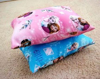 Wholesale Snow Queen Sleeping Siesta Frozen Princess Elsa Anna Mini Pillow Case cm Cartoon Cushion Cover Multipatterns Both Side I1424