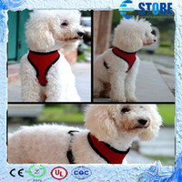Wholesale Popular Pet Harness with Mesh fabric material breathable Dog Cat Leashes wu