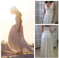 Cheap Beach Boho Sexy V Neck Lace Wedding Dress Stunning Fitted Lace Torso And Cups With Magical Layered Skirt Bridal Gown D611