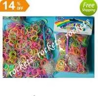 Girls 8-11 Years Multicolor Glow IN THE DARK 300pcs 12 pcs S Rainbow Loom bands kit bracelet Colorful Rubber Bands amazing gift for children Mix colors handmade DIY Hot