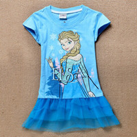 Free shipping Baby Girls Dress Elsa Ana Frozen Dress Princes...