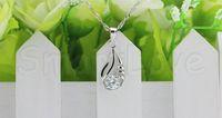 Wholesale Fashion trend high quality silver pendant Inlaid Swarovski Elements diamond beautifully Minimalist necklace jewelry P070