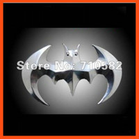 badge graphics - Hot sale D Metal Alloy Bat Batman Car Stickers Full Body Funny Badge Graphics Wall Decals with Blister Card Packing